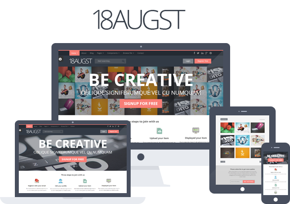 18augst Flat and Responsive Portfolio Gallery by 99webpage | ThemeForest