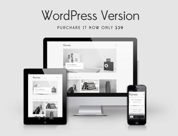 Kansas Minimal Portfolio WordPress Template By Kendythemes - Wordpress portfolio template
