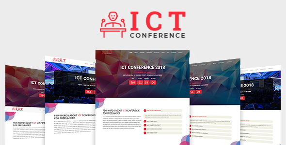 ICT - Conference HTML Template