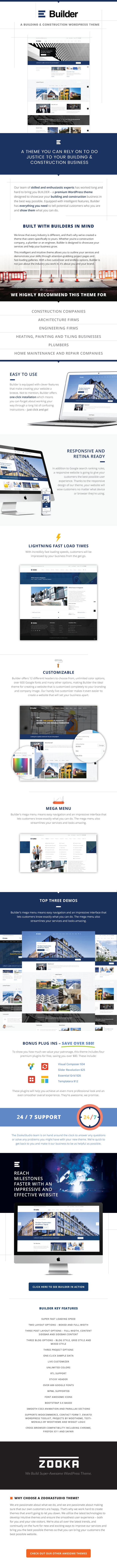 Building & Construction WordPress Theme - Builder