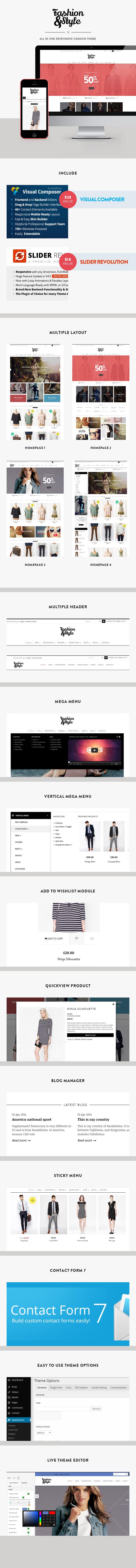 Fashion - WooCommerce Responsive WordPress Theme - 6