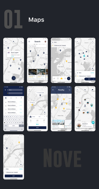 Nove - Mobile UI Kit of 125+ iOS Templates for Sketch by