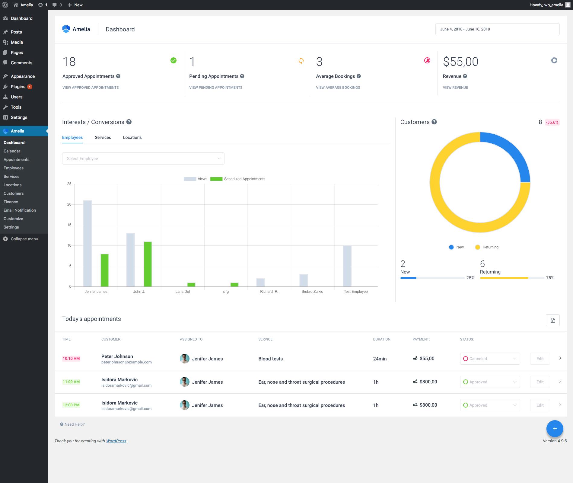 Amelia - Enterprise-Level Appointment Booking WordPress Plugin - 9
