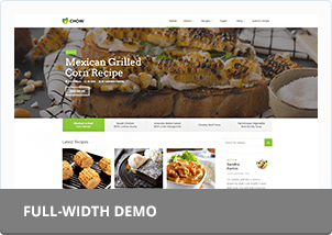 chow recipes food blog html template by vasterad themeforest