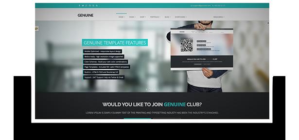 Genuine - Multi Purpose HTML5 Creative Template - 1
