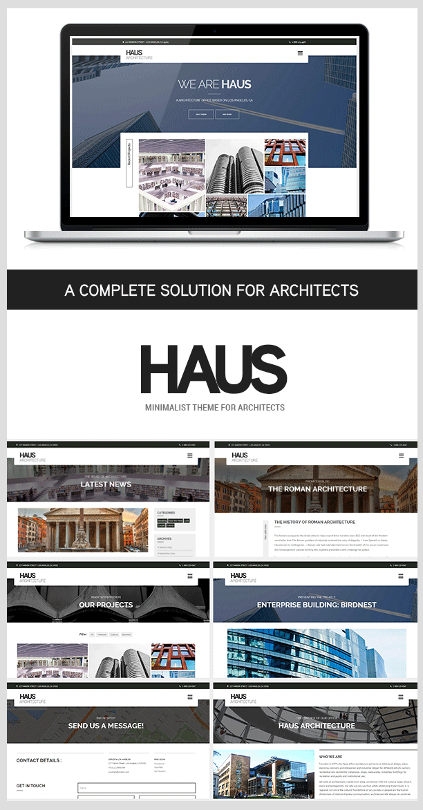 Haus - Wordpress Architecture theme for architects