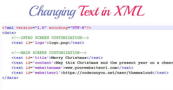 Christmas Greeting Card XML Edit