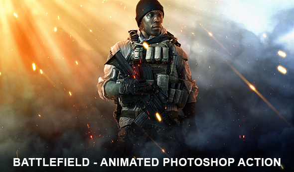 Battlefield 1 Photoshop Effect - Animated Photoshop Action