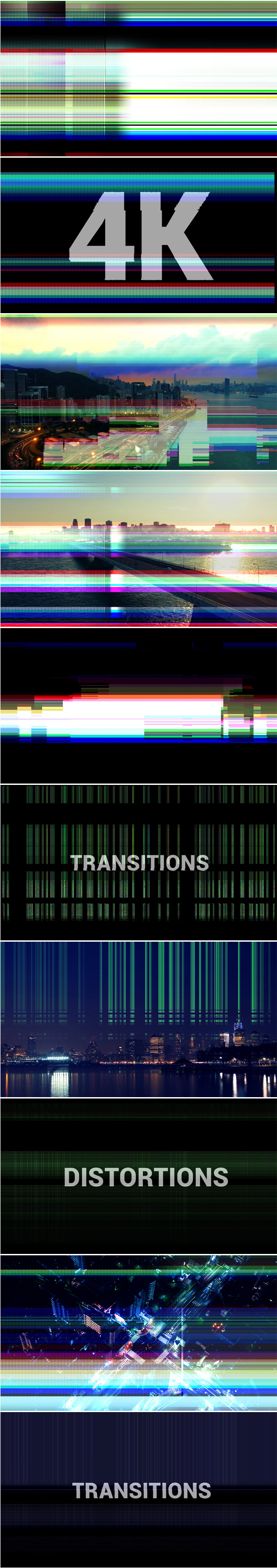 Glitch Transitions 4K UltraHD