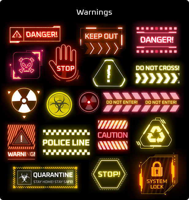 Cyberpunk HUD Elements for After Effects - 13