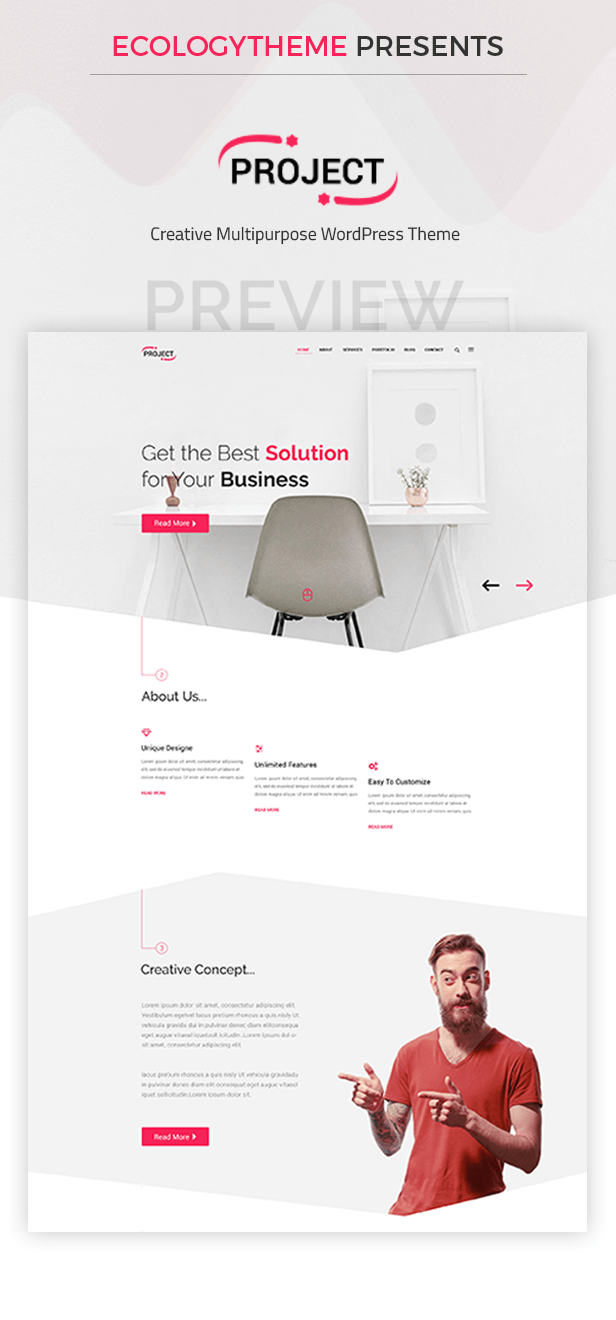 Project - Creative Multipurpose WordPress Theme