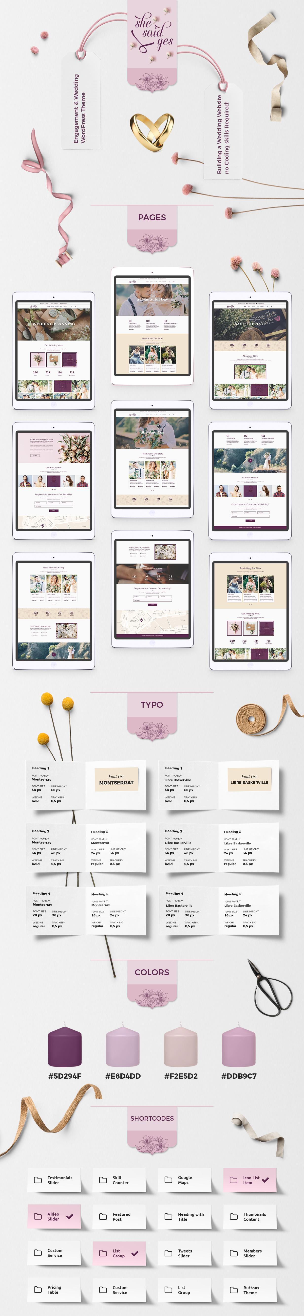 SheSaidYes - Engagement & Wedding WordPress Theme - 1
