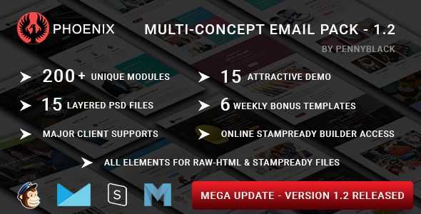 Fitness - Multipurpose Responsive Email Template with Stamp Ready Builder Access - 1
