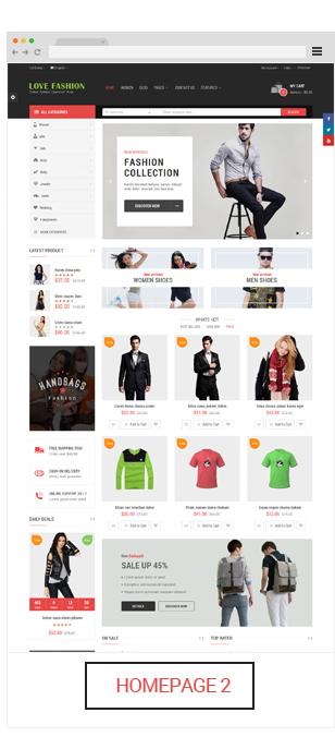 Opencart fashion theme - homepage 2