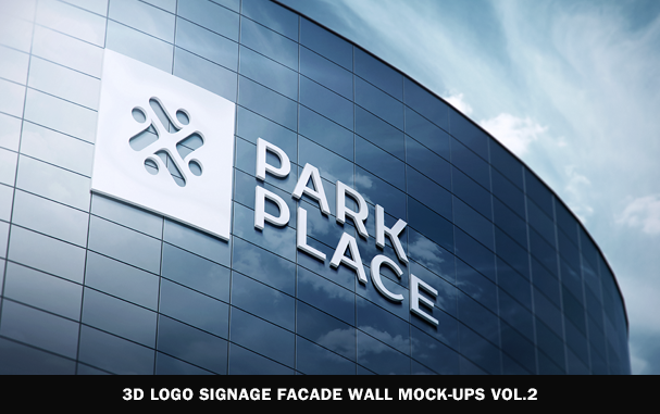 3D Logo Modern Wall Sign Mock-Ups Vol.1 - 7