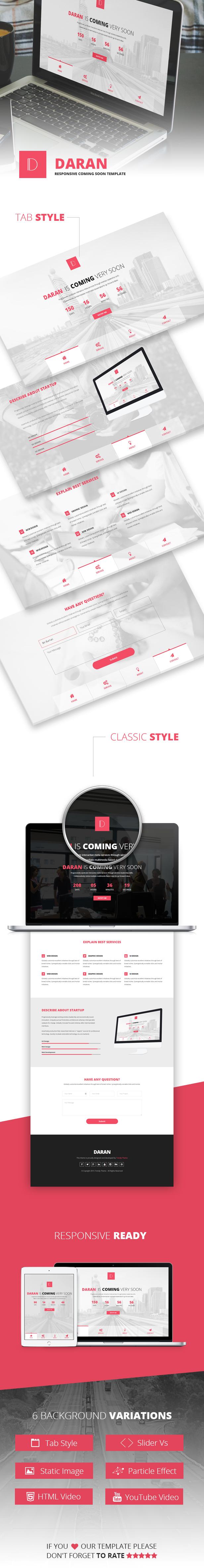 Daran Coming Soon HTML Template