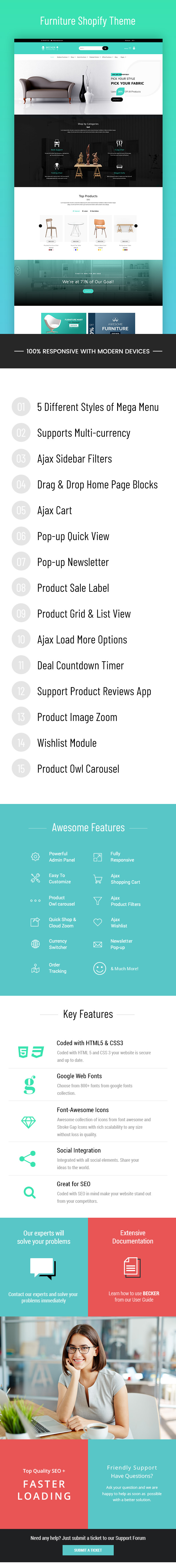 Becker   Sectioned Furniture & Lights Shopify Theme - 1