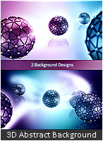 3D Abstract Background Design - 3