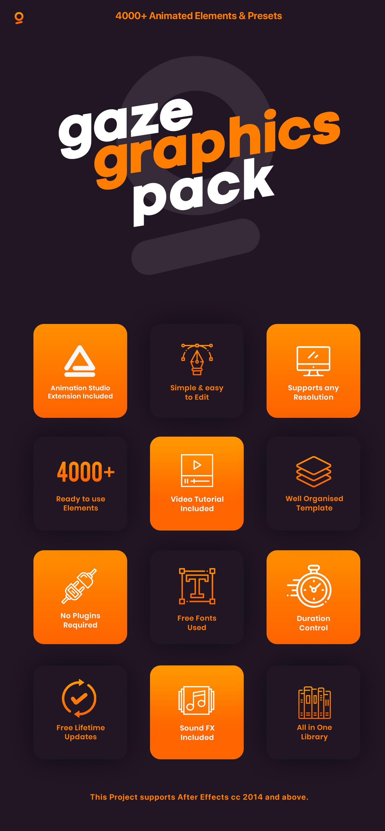 中文汉化AE脚本-4000多个栏目包装无缝转场过渡动画图形元素场景扩展工具包 AnimationStudio V2.4 for Win/Mac 更新插图2