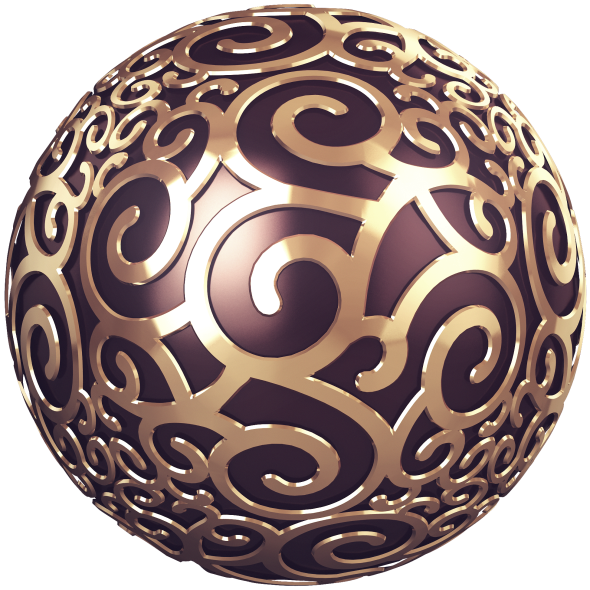 Patterned Sphere - 2