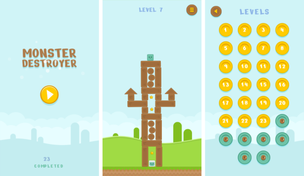 Monster Destroyer - HTML5 Game (Construct3) - 1