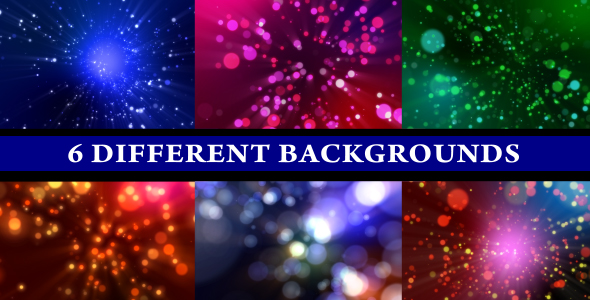 Colorful Particle (6 Different Backgrounds Loop) - 3