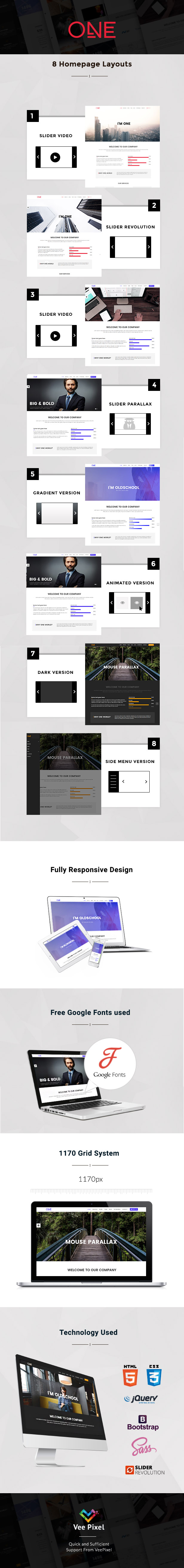 One - Parallax HTML Template - 1