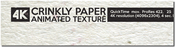 Crinkle Paper Animated Texture