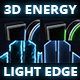 3D Energy light edge logo