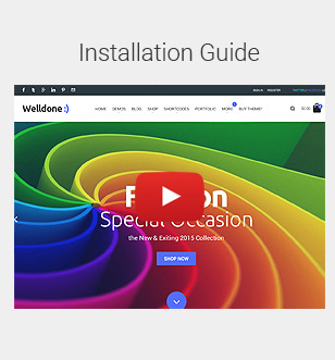 Installation video tutorial