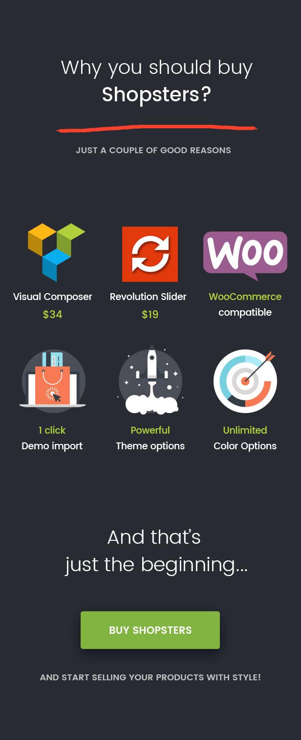 Shopster WooCommerce One Click + Revolution Slider + Visual Composer