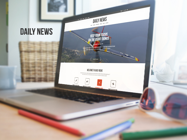 DAILY NEWS - Minimal Blog & Portfolio Theme - 2