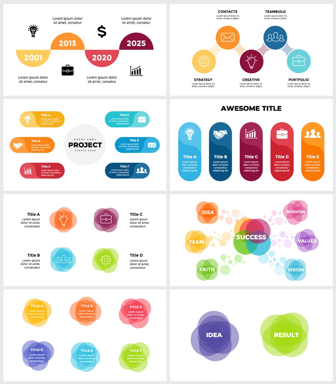 Huge Infographics Bundle! Lifetime Updates! PowerPoint, Photoshop, Illustrator. - 56