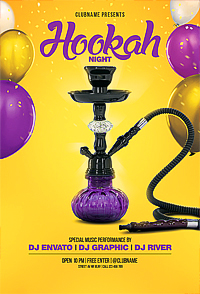 Hookah Party Flyer '14