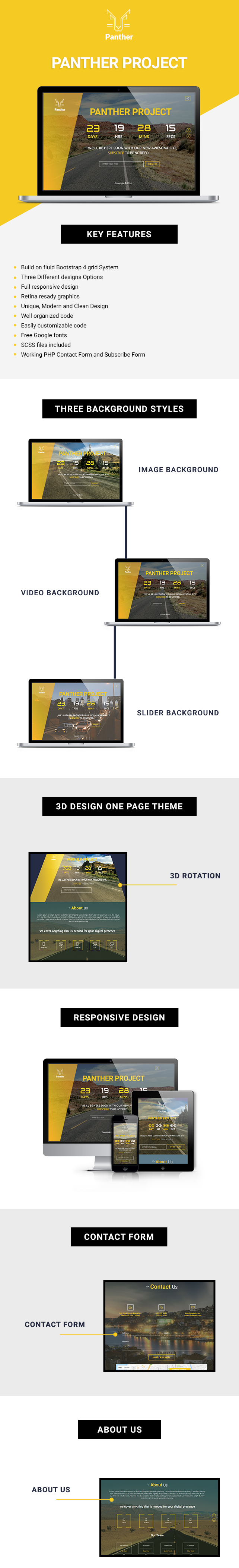 Panther Coming Soon HTML Template - 1