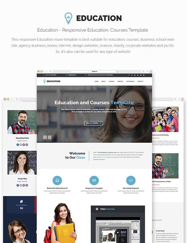 Education - Responsive Education, Courses Template - 6
