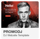 PromoDJ - DJ Website Adobe Muse Template