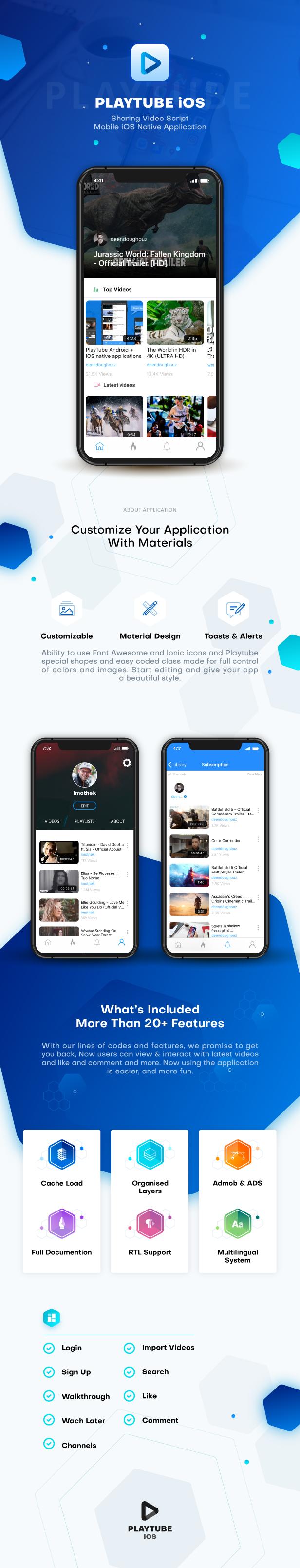 PlayTube IOS - Sharing Video Script Mobile IOS Native Application - 4
