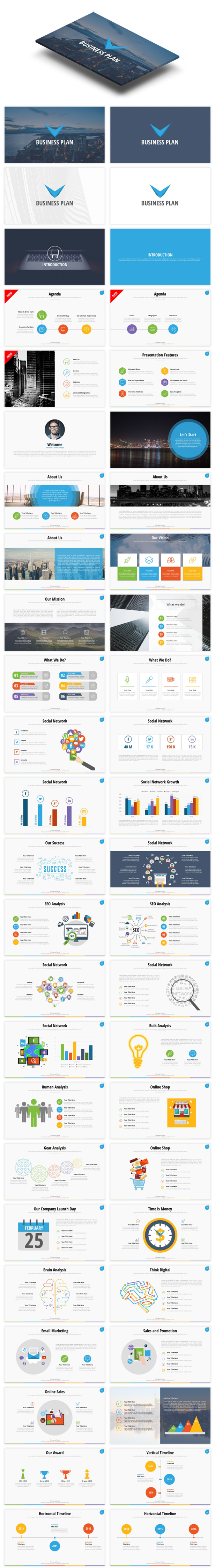 Startup Business Plan Ppt Pitch Deck By Spriteit Graphicriver