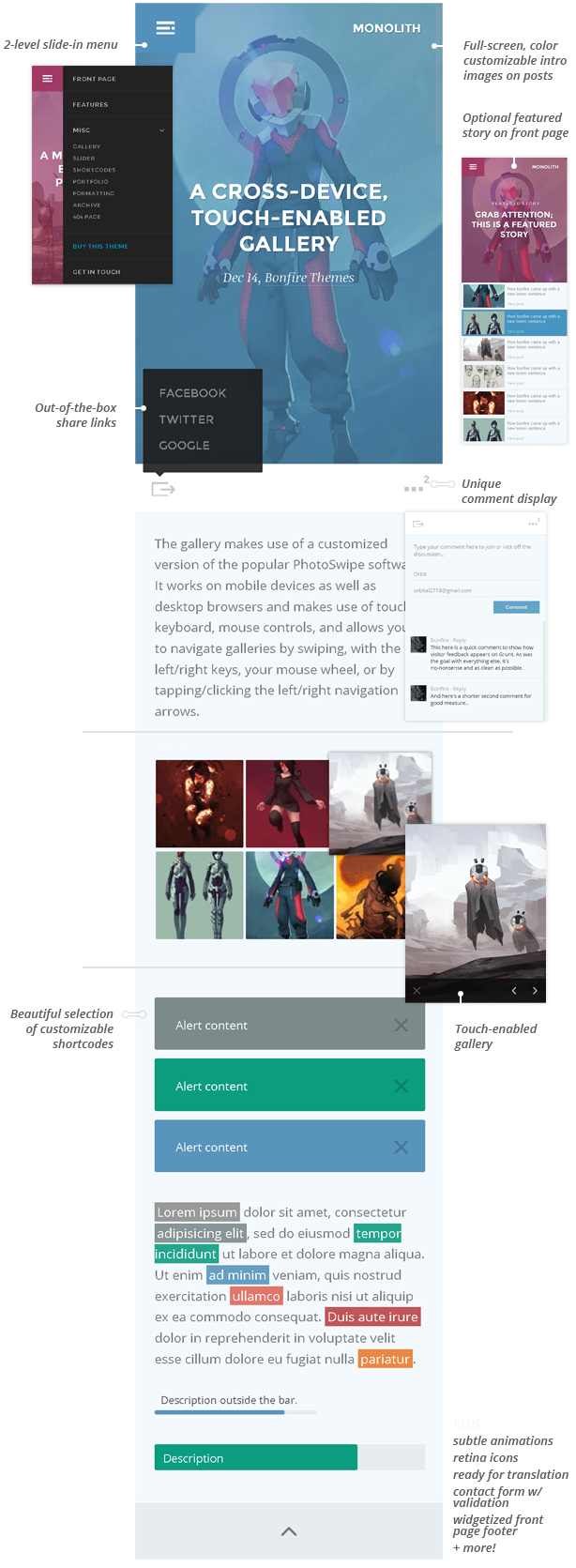 Monolith - WP theme for bloggers and professionals - 5