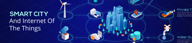 Smart City And Internet Of the Things. Infographic Template