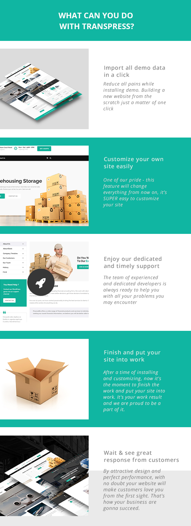 Transpress Transport Logistics and warehouse WordPress theme