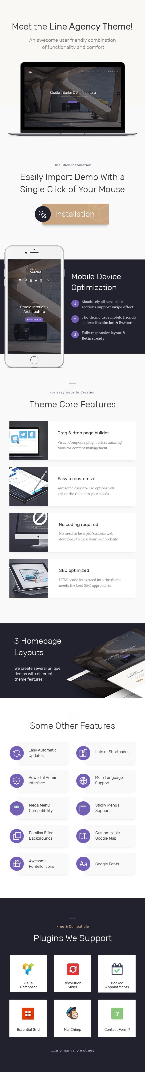 Line Agency | Interior Design & Architecture WordPress Theme - 2