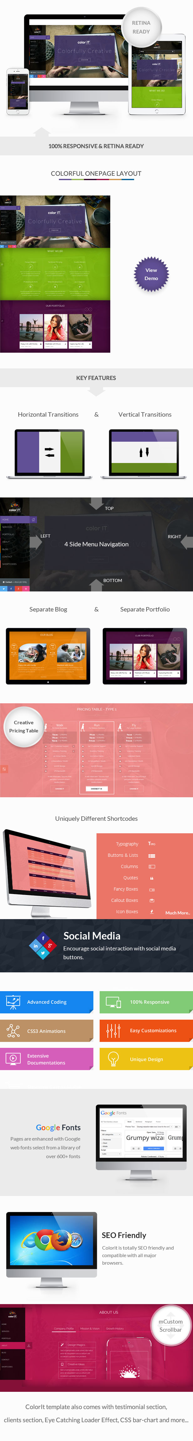 coloriT - Colorful Single Page HTML Template - 1