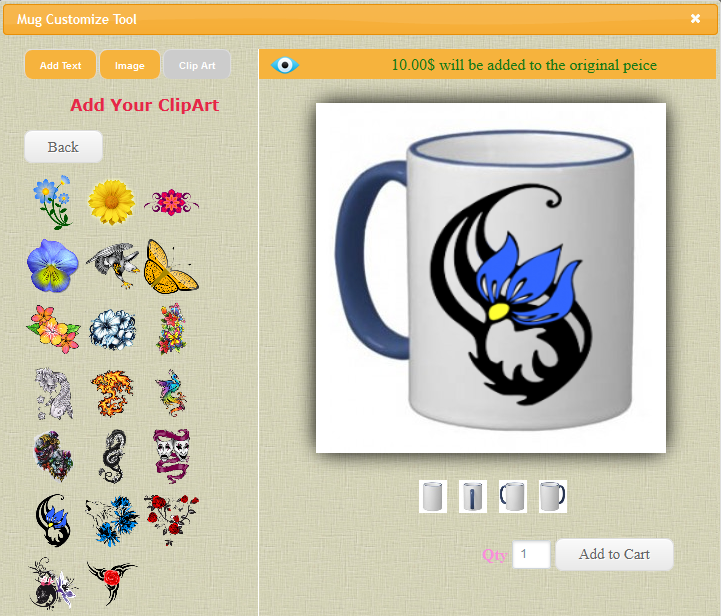 Mug Design and Custom Printing Module for OpenCart - 9