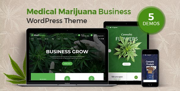 MediGreen - Medical Marijuana WordPress Theme - Health & Beauty Retail