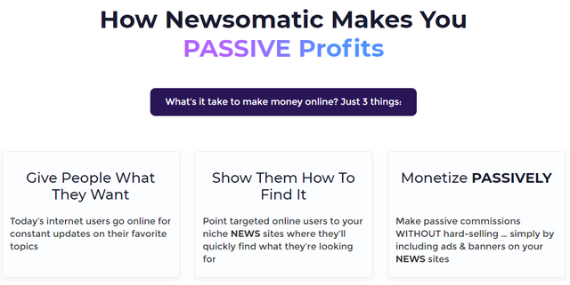 how newsomatic makes you passive income