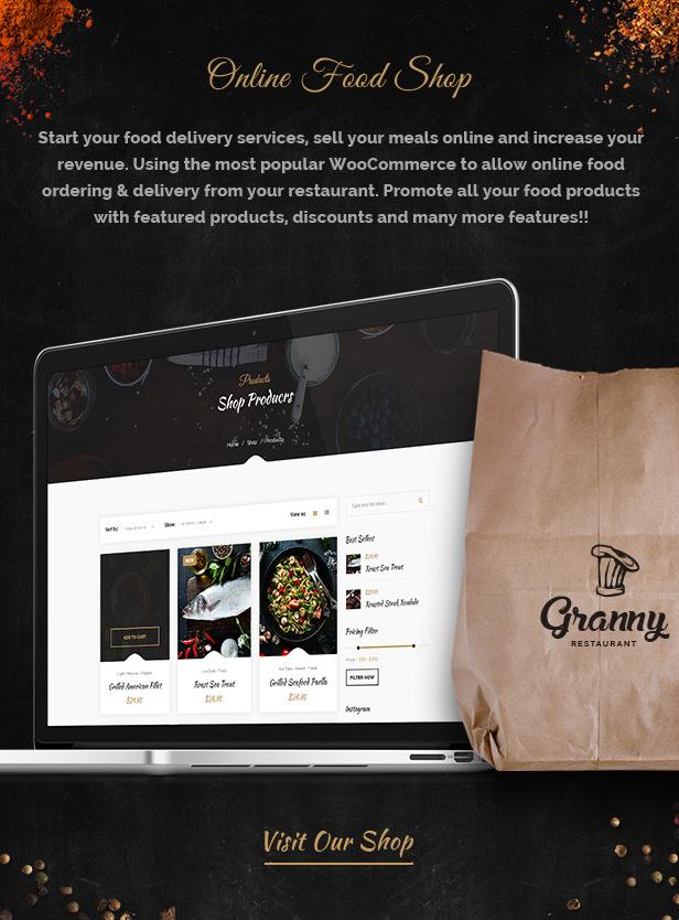 Restaurant Granny - Elegant Restaurant & Cafe WordPress Theme - 7