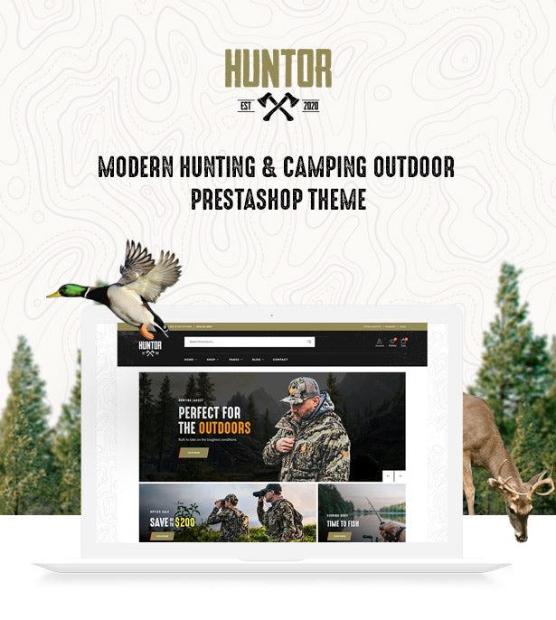 Leo Huntor Modern Hunting & Camping Outdoor Prestashop Theme