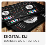 Mixter ultimate dj producer musician band website muse digital dj business card psd template reheart Image collections